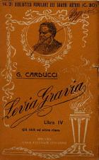 Giosuè Carducci- Levia Gravia-libro IV