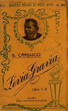 Giosuè Carducci-Levia Gravia libro I°-II°